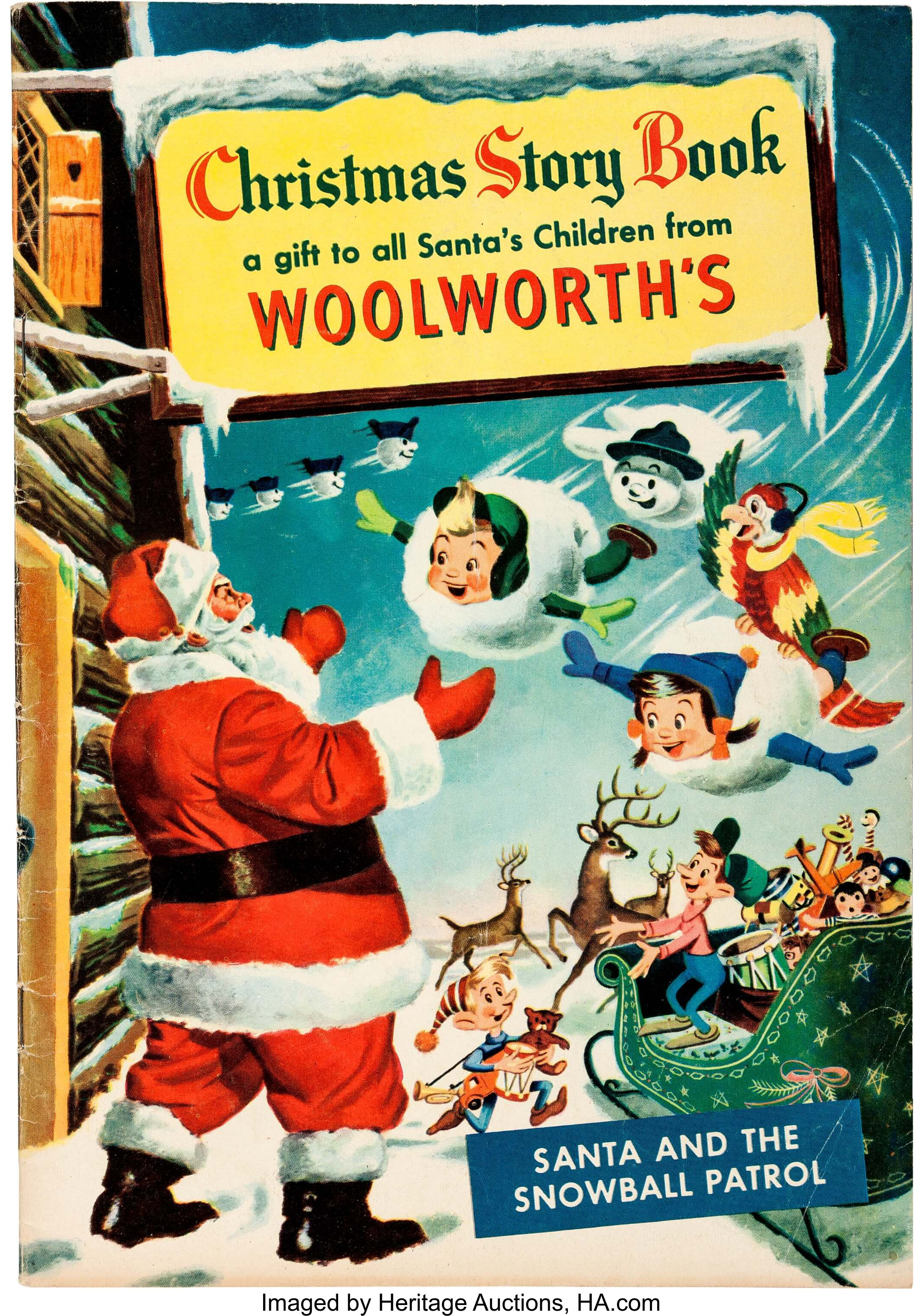 Christmas Toy Catalogs By Mail.Christmas Story Book Woolworth S Promo Comic And Catalog