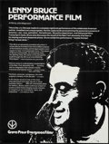 "Movie Posters:Documentary, Lenny Bruce Performance Film (Grove Press Evergreen Films, R-1975). College Poster (21"" X 27.75""). Documentary. Original Tit..."
