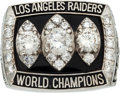 Football Collectibles:Others, 1983 Los Angeles Raiders Super Bowl XVIII Championship Ring Presented to Cornerback Lester Hayes....