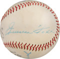 Baseball Collectibles:Balls, Circa 1959 Jimmie Foxx & Ted Williams Multi-Signed Baseball....