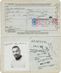 Basketball Collectibles:Others, 1964-69 Wilt Chamberlain United States Passport....