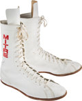 Boxing Collectibles:Memorabilia, 1977 Muhammad Ali Fight Worn Shoes from Earnie Shavers Bout....