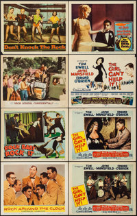 "Rock Around the Clock & Others Lot (Columbia, 1956). Lobby Cards (7) & Title Lobby Card (11"" X 14""). R..."