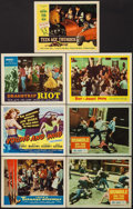 """Movie Posters:Horror, I Was a Teenage Werewolf & Others Lot (American International, 1957). Lobby Cards (5) & Title Lobby Cards (2) (11"""" X 14""""). H... (Total: 7 Items)"""
