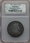 Early Half Dollars, 1807 50C Draped Bust -- Improperly Cleaned -- NCS. VF Details. NGCCensus: (45/581). PCGS Population (141/943). Mintage...
