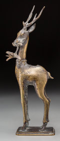 Asian:Japanese, A Japanese Bronze Deer Figure, 20th century. 13-1/2 inches high(34.3 cm). ...