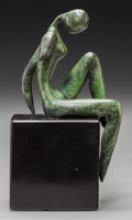 Sculpture, Mary Preminger (American, 1920-1997). Poolside, 1980. Bronze with green patina. 6 inches (15.2 cm) high on a 3 inches (7...