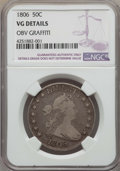 Early Half Dollars: , 1806 50C Pointed 6, Stem, -- Obv Graffiti -- NGC Details. VG. NGCCensus: (35/885). PCGS Population (39/1175). Mintage: 839...