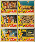 "Movie Posters:Animation, The Three Caballeros (RKO, 1945). Lobby Cards (6) (11"" X 14"").Animation.. ... (Total: 6 Items)"
