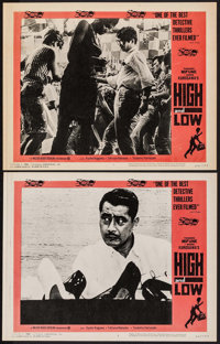 "High and Low (Toho, 1963). Lobby Cards (2) (11"" X 14"") & Mounted Behind the Scenes Photo (8"" X 10..."