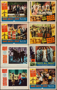 """Mister Rock and Roll & Others Lot (Paramount, 1957). Lobby Cards (8) (11"""" X 14""""). Rock and Roll. ... (Tota..."""