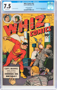 Whiz Comics #52 Crowley/File Copy Pedigree (Fawcett Publications, 1944) CGC VF- 7.5 Off-white pages
