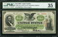 Large Size:Legal Tender Notes, Fr. 95 $10 1863 Legal Tender PMG Choice Very Fine 35.. ...