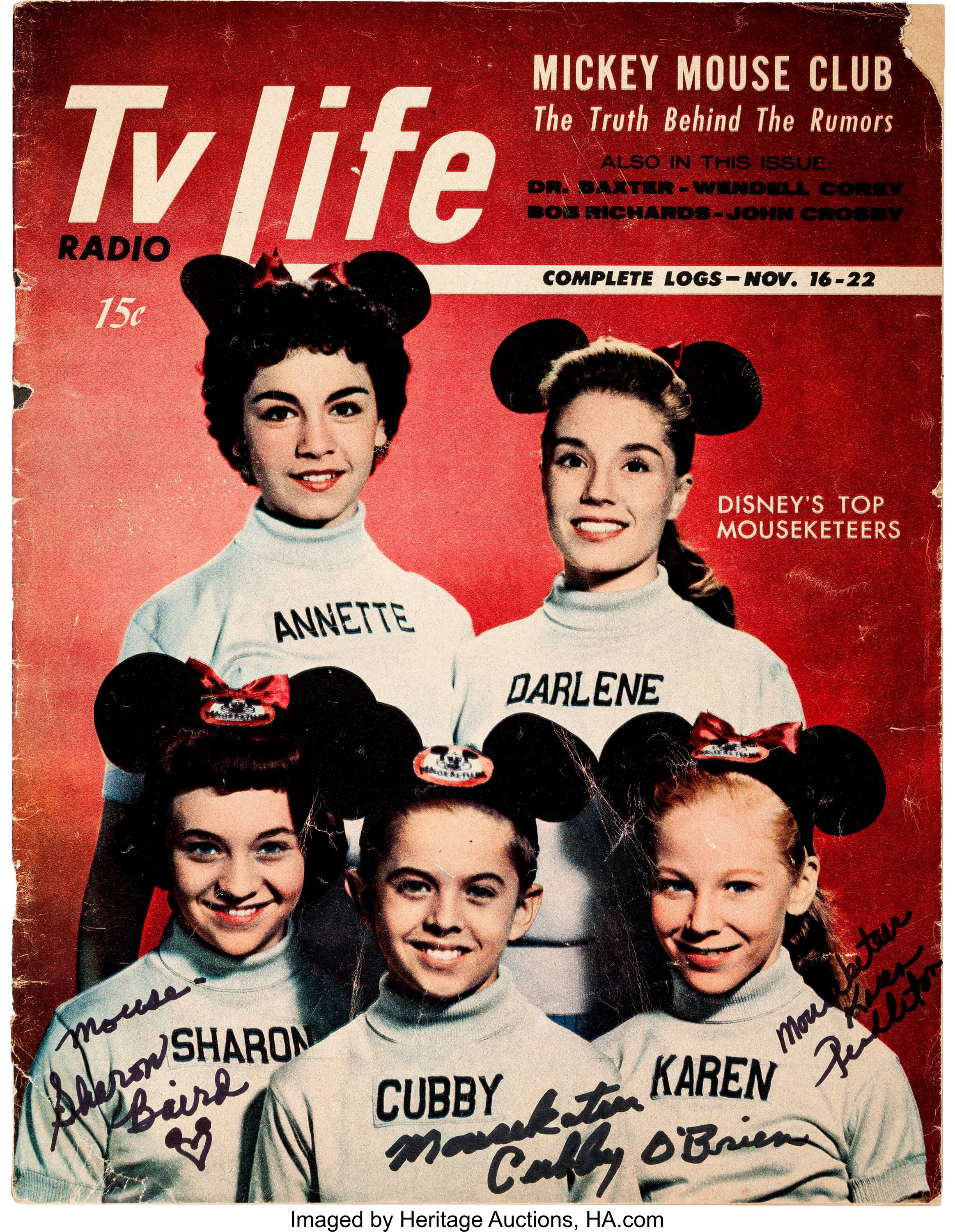 Mickey Mouse Club Book, Magazine and Record Group (c. 1950s ...