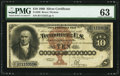 Large Size:Silver Certificates, Fr. 289 $10 1880 Silver Certificate PMG Choice Uncirculated 63.....