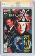 Modern Age (1980-Present):Science Fiction, The X-Files #16 Signature Series (Topps Comics, 1996) CGC NM 9.4White pages....