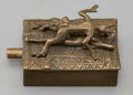 Paintings, A Bermann Bronze Erotic Mechanical Box, Austria, 20th century. Marks: FB (in circle), BERMANN, Geschutzt. 1 x 1-3/4 ...