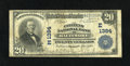 National Bank Notes:Maryland, Baltimore, MD - $20 1902 Plain Back Fr. 650 The Citizens NB Ch. #(E)1384. A Very Good Baltimore Plain Back with sta...