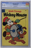 Golden Age (1938-1955):Funny Animal, Mickey Mouse #40 File Copy (Dell, 1955) CGC NM- 9.2 Off-white towhite pages. Pluto appearance. Paul Murry cover. Overstreet...
