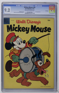 Mickey Mouse #40 File Copy (Dell, 1955) CGC NM- 9.2 Off-white to white pages. Pluto appearance. Paul Murry cover. Overst...