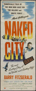 """Movie Posters:Crime, The Naked City (Universal International, 1948). Insert (14"""" X 36"""").Crime. Starring Barry Fitzgerald, Howard Duff, Dorothy H..."""