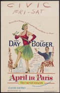 "Movie Posters:Musical, April in Paris (Warner Brothers, 1952). Window Card (14"" X 22""). Musical Comedy. Starring Doris Day, Ray Bolger, Claude Daup..."