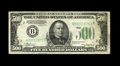Small Size:Federal Reserve Notes, Fr. 2201-B $500 1934 Federal Reserve Note. Very Fine-Extremely Fine.. Treasury Seal embossing is noticed on this note....
