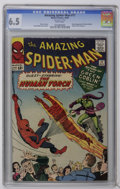 Silver Age (1956-1969):Superhero, The Amazing Spider-Man #17 (Marvel, 1964) CGC FN+ 6.5 White pages. Green Goblin cover story, his second appearance. Human To...