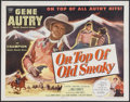 "Movie Posters:Western, On Top of Old Smoky (Columbia, 1953). Half Sheet (22"" X 28"").Western. Starring Gene Autry, Champion, Gail Davis and Grandon..."