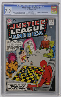 Justice League of America #1 (DC, 1960) CGC FN/VF 7.0 White pages. This first issue of the long running title features t...
