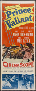 "Movie Posters:Adventure, Prince Valiant (20th Century Fox, 1954). Insert (14"" X 36"").Adventure. Starring James Mason, Janet Leigh, Robert Wagner, De..."