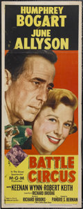 "Movie Posters:Drama, Battle Circus (MGM, 1953). Insert (14"" X 36""). War. Starring Humphrey Bogart, June Allyson, Keenan Wynn and Robert Keith. Di..."