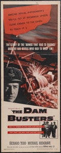 """Movie Posters:War, The Dam Busters (Warner Brothers, 1955). Insert (14"""" X 36""""). War.Starring Richard Todd, Michael Redgrave, Ursula Jeans and ..."""