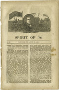 "Political:Small Paper (pre-1896), Important Harrison & Tyler Pamphlet from Tennessee, AttackingJames K. Polk. Identified as ""No. 23"", it is clearly part of a..."