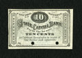 Obsoletes By State:New Hampshire, Concord, NH- Phenix Hotel State Capital Bank 10¢ November 1, 1862. This pleasing merchant scrip remainder is hole cancelled ...