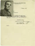 "Autographs:Military Figures, Anthony C. McAuliffe Typed Letter Signed ""A. C. McAuliffe"". One page, 8"" x 10.5"", Joint Research and Development Board l..."