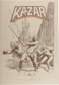 Original Comic Art:Miscellaneous, Brent Anderson - Kazar Limited Edition Portfolio #2508/3500(Marvel, 1982). Portfolio with six beautiful plates illustrated ...
