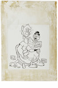 Original Comic Art:Covers, Warren Kremer - Baby Huey and Papa #9 Cover Original Art (Harvey,1963). It's bedtime for Baby Huey, in this sleepy cover il...