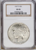 Peace Dollars: , 1927-S $1 XF45 NGC. NGC Census: (14/2333). PCGS Population(25/3515). Mintage: 866,000. Numismedia Wsl. Price: $35. (#7372)...
