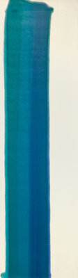 Morris Louis (1912-1962) Blue Pilaster II, 1960 Acrylic resin (Magna) on canvas 83 x 23-1/2 inche