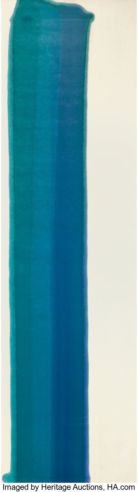 Morris Louis (1912-1962)Blue Pilaster II, 1960Acrylic resin (Magna) on canvas83 x 23-1/2 inches (210.8 x 59.7 cm)...