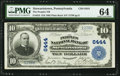 National Bank Notes:Pennsylvania, Stewartstown, PA - $10 1902 Plain Back Fr. 624 The Peoples NB Ch. #6444. ...
