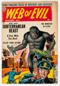 Golden Age (1938-1955):Horror, Web of Evil #9 (Quality, 1953) Condition: FN-....