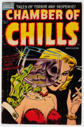 Golden Age (1938-1955):Horror, Chamber of Chills #19 (Harvey, 1953) Condition: VG+....