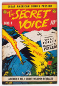 Golden Age (1938-1955):Non-Fiction, Great American Comics Presents - The Secret Voice #1 (AmericanFeatures Syndicate, 1945) Condition: GD....