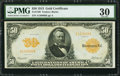 Large Size:Gold Certificates, Fr. 1199 $50 1913 Gold Certificate PMG Very Fine 30.. ...