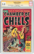 Golden Age (1938-1955):Horror, Chamber of Chills #7 Signature Series (Harvey, 1952) CGC GD/VG 3.0Off-white to white pages....