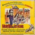 """Movie Posters:Comedy, Munster, Go Home (Universal, 1966). Six Sheet (79"""" X 78""""). Comedy.. ..."""