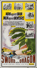 """Movie Posters:Fantasy, Sword and the Dragon (Valiant Films, 1960). First U.S. ReleaseThree Sheet (41"""" X 75""""). Fantasy.. ..."""