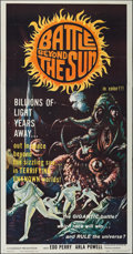 """Movie Posters:Science Fiction, Battle Beyond the Sun (Filmgroup, 1962). Three Sheet (41"""" X 79""""). Science Fiction.. ..."""